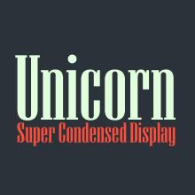 Unicorn — Display Font. Un projet de Br, ing et identité, Design graphique, T , et pographie de David Matos - 09.10.2019
