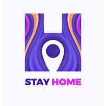 Stay Home!. Un proyecto de Ilustración, Br, ing e Identidad, Ilustración vectorial, Creatividad, Ilustración digital, Ilustración textil, Diseño digital y Comunicación de Maikel Martínez Pupo - 05.08.2020