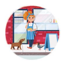Beth Chip Shop. A Illustration, Digital illustration, and Children's Illustration project by Giovana Medeiros - 08.06.2020