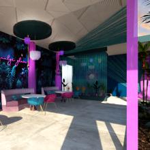"""JUNGLE GLAM"". Um projeto de Arquitetura de interiores de Rebeca Bonilla Alfaro - 08.08.2020"