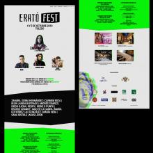 Erato Fest 2019. Um projeto de Web design de Diana Creativa - 10.08.2020