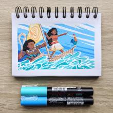 Posca Film Illustrations. Um projeto de Ilustração de James Chapman - 12.08.2020