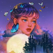 Meu projeto do curso: Retrato digital no Photoshop com um toque de fantasia. Um projeto de Ilustração digital de Elisabete Della Rosa Pimentel - 12.08.2020
