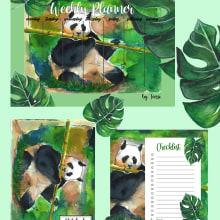 Mi Proyecto del curso: PANDA papeleria . Un progetto di Pittura, Disegno , e Pittura ad acquerello di Teissi Aranda - 13.08.2020