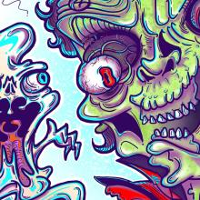 Thriller. A Illustration, Creativit, Digital illustration, Concept Art, and Digital Drawing project by Santiago Carranza - 08.14.2020