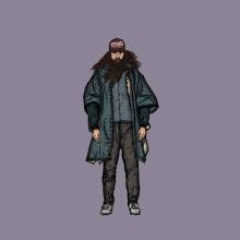 Forrest Gump. Un proyecto de Ilustración, Br, ing e Identidad y Dibujo digital de Fabry Salgado - 14.08.2020