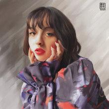 Irene . Un proyecto de Ilustración, Ilustración de retrato y Pintura digital de Rodolfo Quintal - 22.05.2020