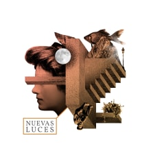 """Propuesta para la portada del CD """"Nuevas Luces"""" de RNM.. Un proyecto de Música, Audio, Diseño gráfico, Packaging, Collage y Creatividad de Nicolás Romero - 30.05.2020"""
