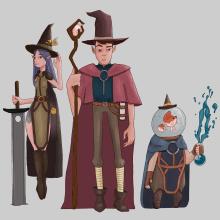 My 3 Magic Warriors. Un proyecto de Ilustración, Diseño de personajes e Ilustración digital de Ana de Matos - 18.08.2020
