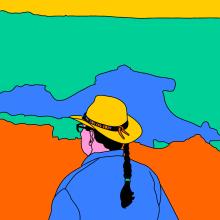 Cañón . Un projet de Illustration, Conception éditoriale, Design graphique, Dessin, Illustration numérique , et Dessin numérique de Sonia Cabré - 20.08.2020