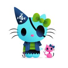 Hello Kitty x Nathan. Un progetto di Illustrazione, Character Design, Illustrazione vettoriale e Illustrazione digitale di Nathan Jurevicius - 21.08.2020