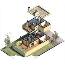 Curso: Ilustración digital de proyectos arq. Un proyecto de Arquitectura, Ilustración digital y Dibujo digital de Andrea Tarditti - 22.08.2020
