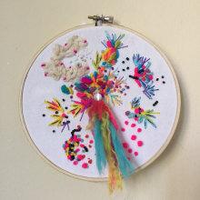 Mi Proyecto del curso: Bordado y personalización de accesorios . A Embroider, and Creating with Kids project by Camila Muñoz Bozo - 08.23.2020