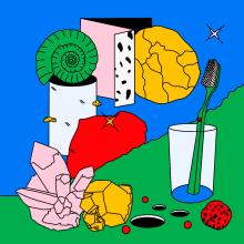 Cretácico . Un projet de Illustration, Conception éditoriale, Design graphique, Dessin , et Dessin numérique de Sonia Cabré - 23.08.2020