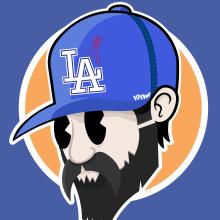 LA Dodgers. Un progetto di Character Design, Illustrazione vettoriale e Illustrazione digitale di federico capón - 25.08.2020