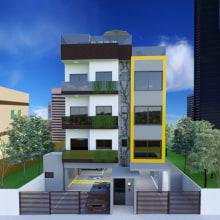 Edificio residencial multifamiliar. Um projeto de 3D de Lorena Dantas - 27.08.2020