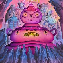 Owlbots. Un progetto di Illustrazione, Character Design, Illustrazione vettoriale, Creatività, Illustrazione digitale , e Arte concettuale di Nathan Jurevicius - 28.08.2020