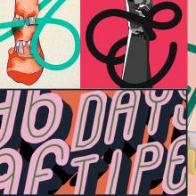 Lenguaje de Señas Mexicanas (LSM) // 36 Days Of Type // '20. A Illustration, Kalligrafie, Lettering, Vektorillustration, Digitale Illustration, Digitales Lettering, H und Lettering project by Christian Amador - 27.05.2020