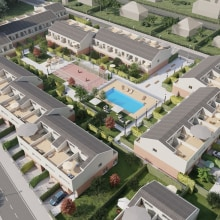 Renders urbanización L'Eliana. A 3D, Architecture, Infographics, 3d modeling, and ArchVIZ project by Salva Moret Colomer - 09.15.2017