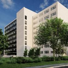 Modelado edificio administrativo. A 3D, Architecture, Infographics, 3d modeling, and ArchVIZ project by Salva Moret Colomer - 10.29.2015