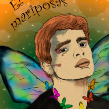 El 7 de mariposas. A Illustration, and Watercolor Painting project by Loan Poulet Fernández - 08.30.2020