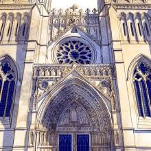 Bristol Cathedral. Un proyecto de Ilustración, Ilustración digital e Ilustración arquitectónica de Jo Lindley - 02.09.2020