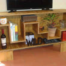 Mi Proyecto del curso: Mueble para TV. Un projet de Charpenterie de Jose Alberto Rodriguez Hernandez - 02.09.2020