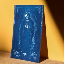 """""""Santa Muerte"""", cianotipo sobre papel acuarela 250gr. Un proyecto de Fotografía de Laura Korinfeld - 03.09.2020"""
