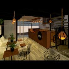 TSAI: Diseño de interiores para restaurantes. Um projeto de Arquitetura de interiores e Design de interiores de Giovanna Martínez - 03.09.2020