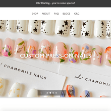 Oh Chamomile Nails: My press-on nails bussines . A Graphic Design, and Web Design project by Michelle A Quiroz Ramirez - 08.03.2020