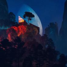 Cabins. A Design, Illustration, 3-D, Architektur, L, schaftsbau, 3-D-Modellierung, Concept Art und Architektonische Illustration project by Ronen Bekerman - 04.09.2020