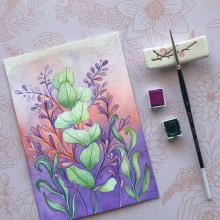 Mi Proyecto del curso: Técnicas de acuarela en negativo para ilustración botánica. A Watercolor Painting project by Carla - 09.06.2020