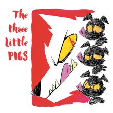 Mi Proyecto del curso: Introducción a la ilustración infantil: Los Tres Cerditos. Um projeto de Ilustração, Design de personagens e Ilustração infantil de Jorch De Castro - 08.09.2020
