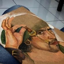 colored pencil portrait of a pirate. Un proyecto de Bellas Artes de Kiu Schaun - 10.09.2020