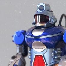 Introducción al modelado hard surface: Robot. A 3-D, 3-D-Modellierung und 3-D-Design project by Kalil Fiat - 10.09.2020