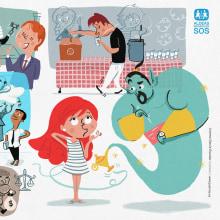 ALDEAS INFANTILES SOS.. Un proyecto de Ilustración, Diseño editorial e Ilustración infantil de Juanma García Escobar - 12.09.2020