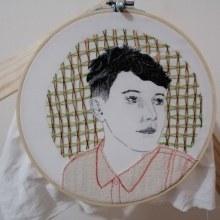 Mi Proyecto del curso: Creación de retratos bordados. Un proyecto de Bordado de Maria Echarry Añez - 13.09.2020