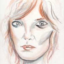 Mi Proyecto del curso: Cuaderno de retratos en acuarela. Un proyecto de Bellas Artes, Bocetado, Pintura a la acuarela y Dibujo de Retrato de Isi Cano - 13.09.2020