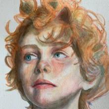 Mi Proyecto del curso: Retrato artístico en acuarela. Un projet de Beaux Arts de Tíffany Solís - 14.09.2020
