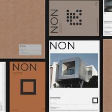 NON Arquitectura. Um projeto de Design editorial, Design gráfico e Design de cartaz de Gabriel Sencillo - 16.09.2020