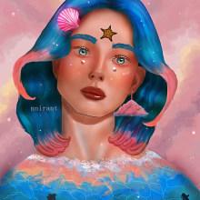 Mi Proyecto del curso: Retratos digitales de fantasía con Photoshop. Un proyecto de Diseño, Concept Art, Dibujo de Retrato, Dibujo realista, Dibujo artístico y Dibujo digital de Jennifer Pupo Martínez - 16.09.2020