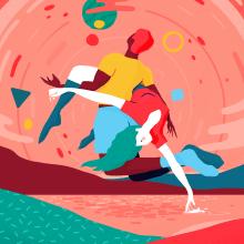 Dancing with the universe. Un proyecto de Diseño gráfico e Ilustración de Albert Pinilla Ilustrador - 17.09.2020