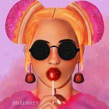Sweet girl. Un proyecto de Diseño, Dibujo a lápiz, Concept Art, Dibujo de Retrato, Dibujo realista, Dibujo artístico y Dibujo digital de Jennifer Pupo Martínez - 19.09.2020