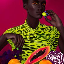 Lil papaya. Un projet de Illustration, Dessin, Illustration numérique, Illustration de portrait, Dessin de portrait, Dessin réaliste, Dessin artistique , et Dessin numérique de Sonia Cabré - 21.09.2020