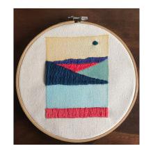 Mi Proyecto del curso: Técnicas básicas de bordado y acuarela. A Stickerei project by Giovana Hernandez - 21.09.2020