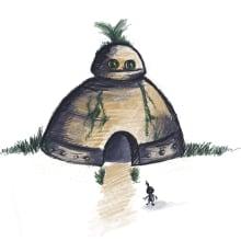 Robots con plantitas. Un proyecto de Ilustración, Ilustración digital y Pintura a la acuarela de Isi Cano - 22.09.2020