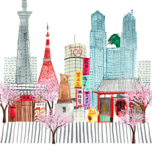 Cityscapes. A Illustration project by Stef Maden - 09.22.2020