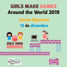 Girls Make Games en España. Un proyecto de Diseño gráfico, Diseño de carteles, Videojuegos, Pixel art y Diseño para Redes Sociales de Isi Cano - 10.01.2018