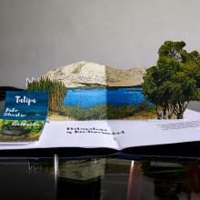 Díptico sobre Laguna de Conache. Um projeto de Design gráfico e Encadernação de Iván Portilla - 29.09.2020
