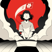 AKQA – Omikuji Rugby. A Comic, and Digital illustration project by Thomas Rohlfs - 09.30.2020